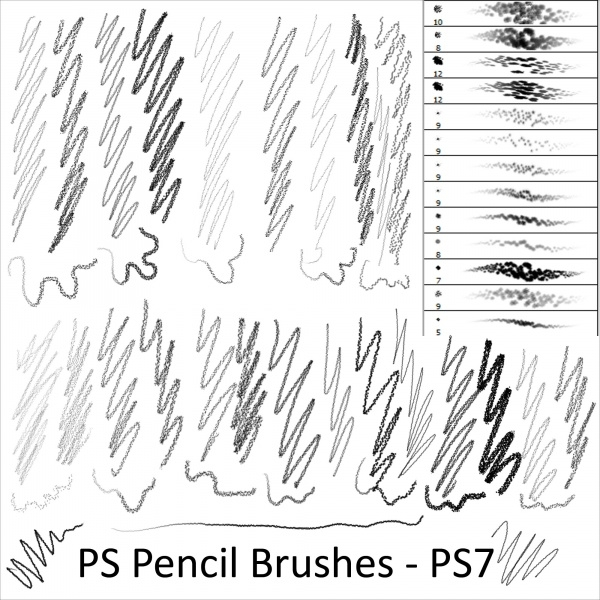 Pencil & Sketch Brushes