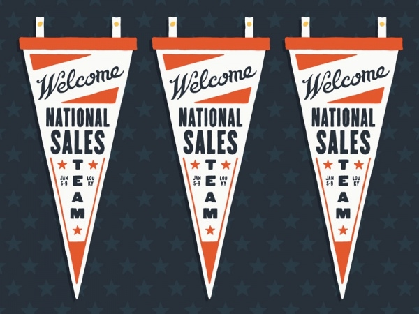 Pennant Welcome Script Banner