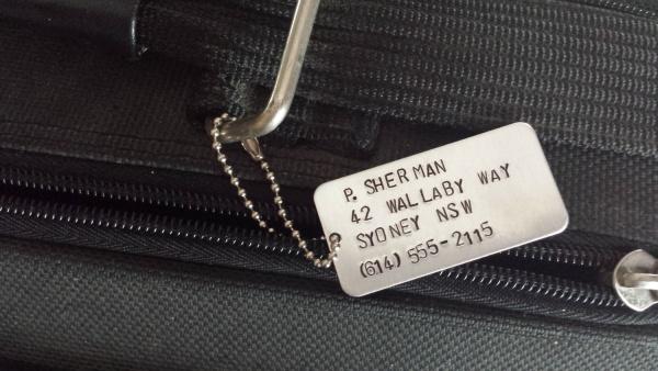 Personalized Aluminum Tag Design