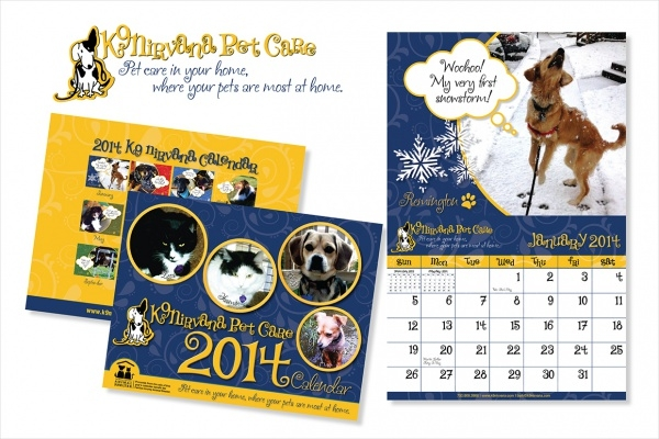Pet Care Branding photo Calendar