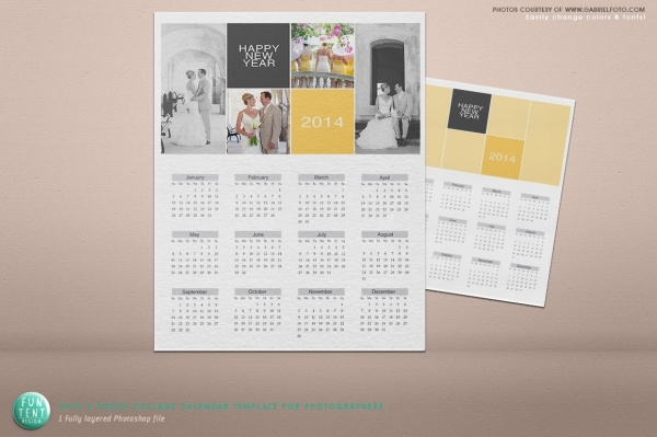 Photo Collage Calendar Design
