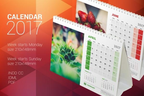 Desk Calendar Design : Photo calendar designs psd vector eps jpg download
