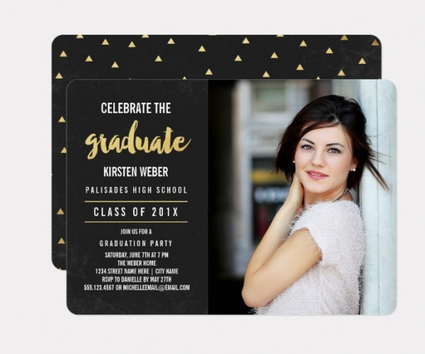 Photo Graduation Party Invitation