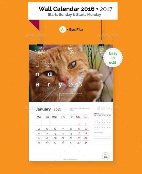 Photo Wall Calendar Design