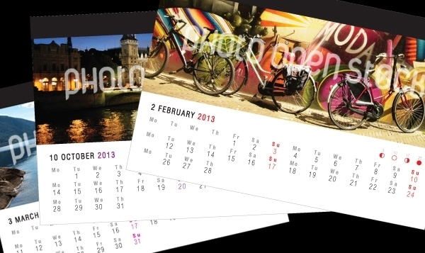 Photo on Top Calendar Design