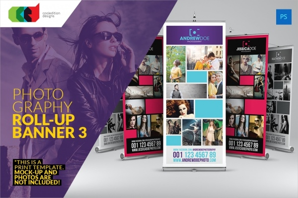 Photography Roll-Up Banner Design Template