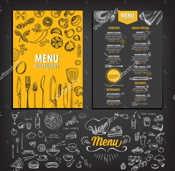 Photorealistic Brochure for Menu