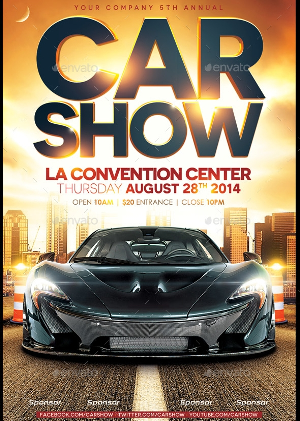 Photorealistic Car Show Flyer – Street