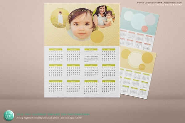 Photoshop Calendar Chic Photo