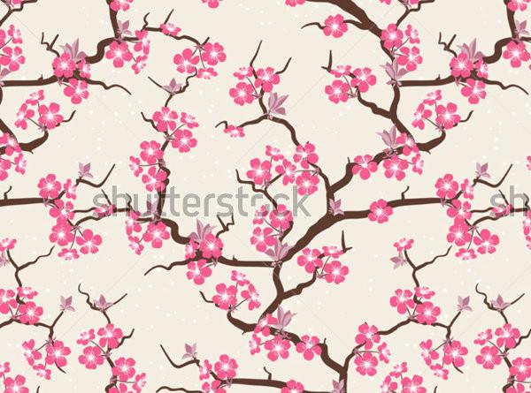 Photoshop Cherry Blossom Pattern