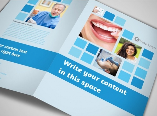 photoshop dental care brochure