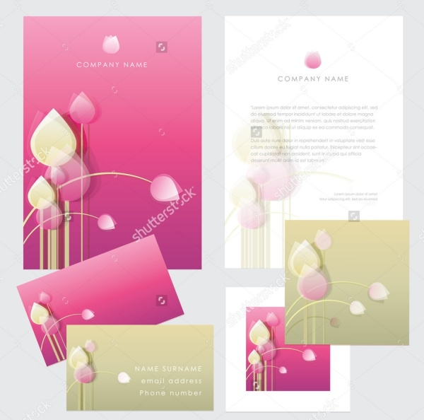 Photoshop PSD Florist Brochure