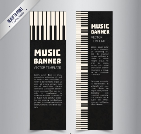 Piano Music Banner Template