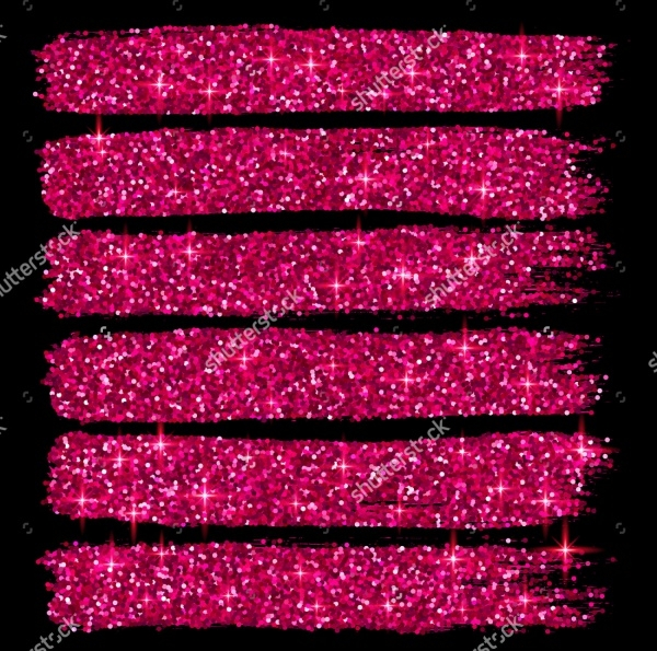 Pink Glitter Photoshop Brush Strokes