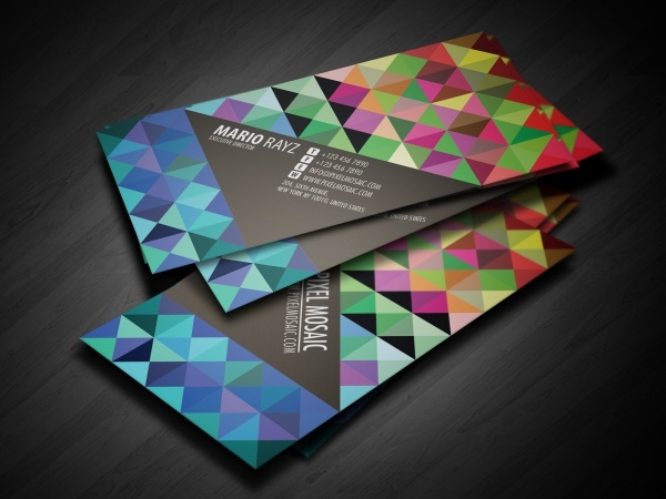 Pixel Mosaic Business Card Design