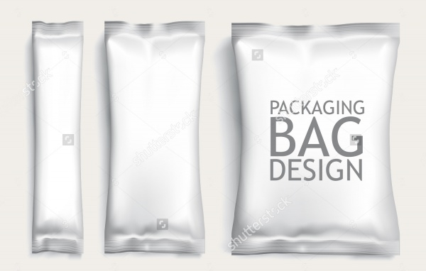 Plastic White Bag Packaging Design