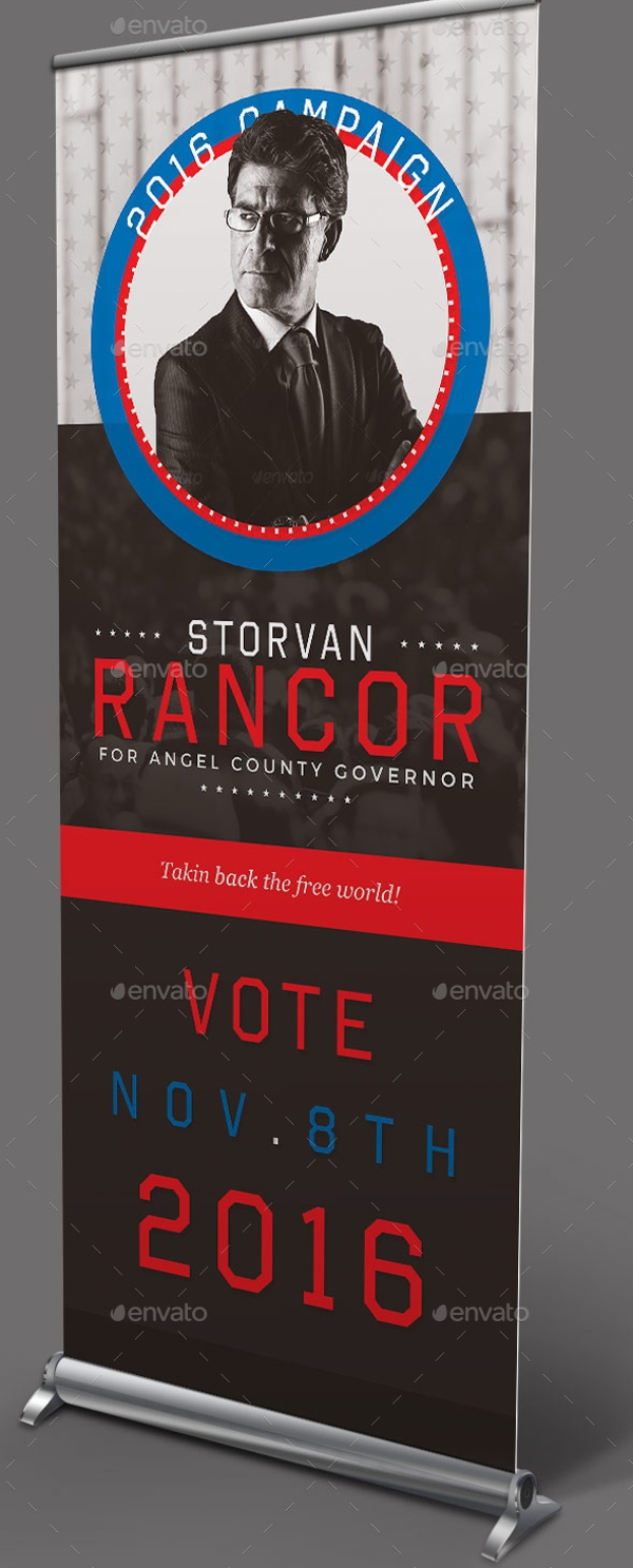 Political Roll Up Banner Template