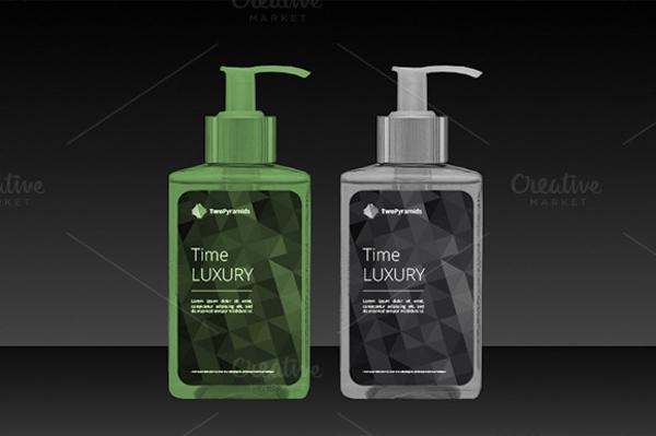 Polygon Cosmetic Label Design