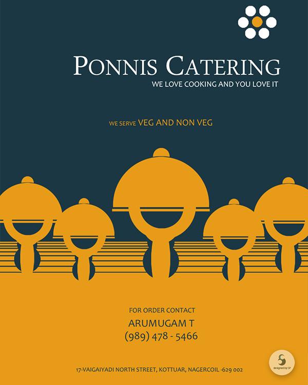 Ponnis Catering Flyer Design