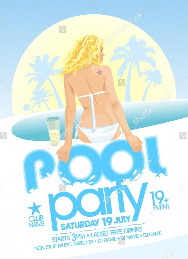 Pool Party Design Template Premium