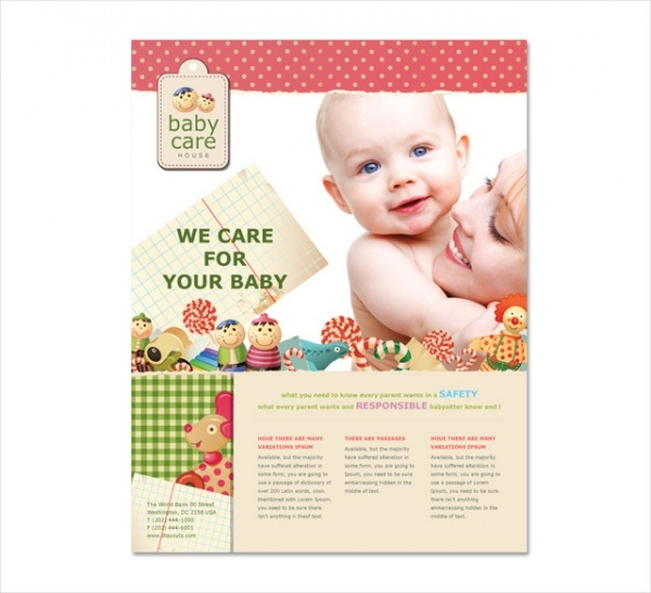 Premium Babysitting Flyer Template