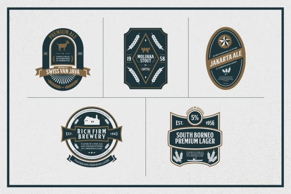 Premium Beer Labels Design