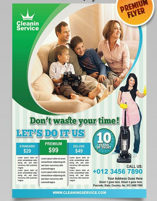 Premium Home Cleaning Service Brochure