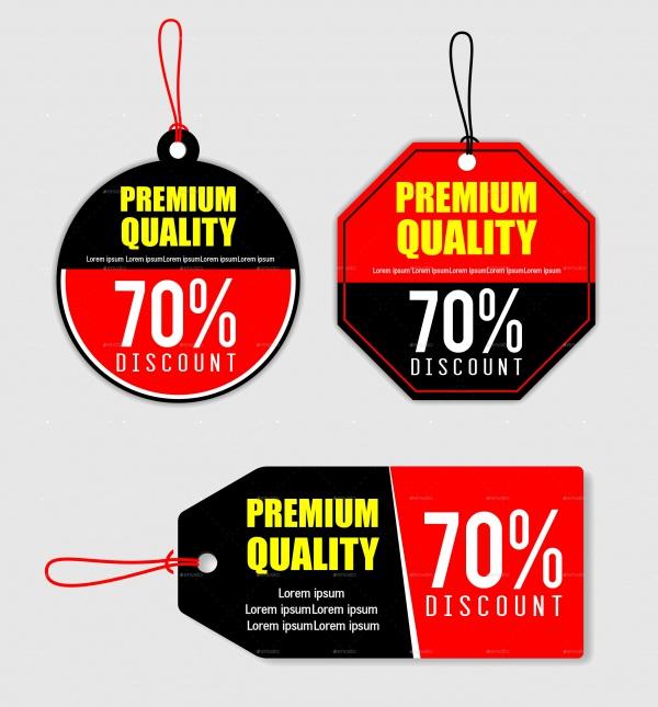 Price Discount Tag Design