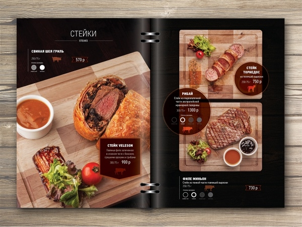 Print design of Menu for restaurant