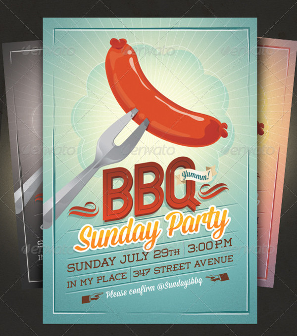 Printable BBQ Summer Party Invitation