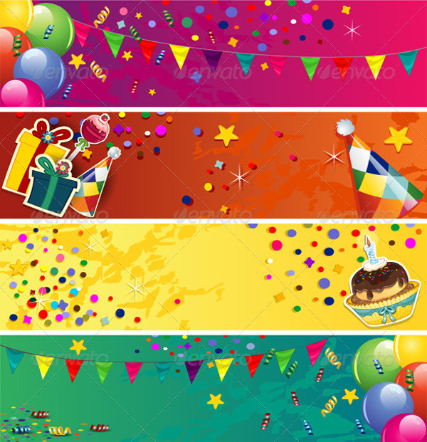 Printable Birthday Banner Design