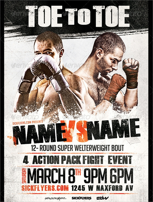 25 boxing flyer designs psd vector eps jpg download freecreatives