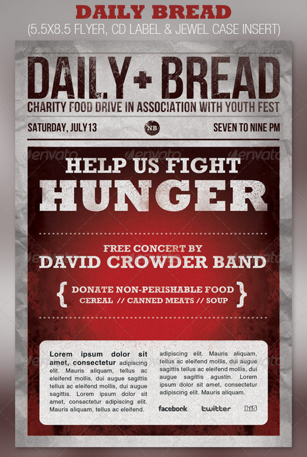 Printable Church Food Drive Flyer