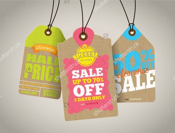 Printable Sale Hang Tags Design