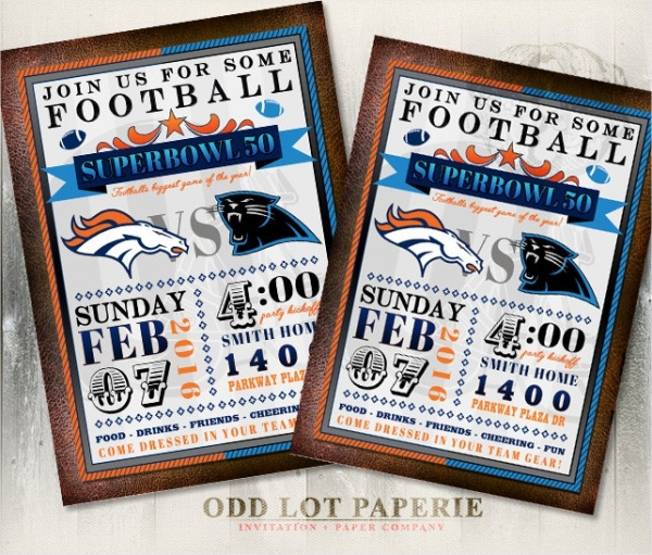 Printable Super Bowl Invitation