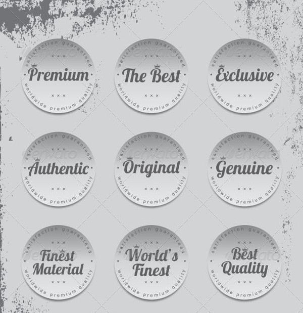 Product Quality Label Stickers