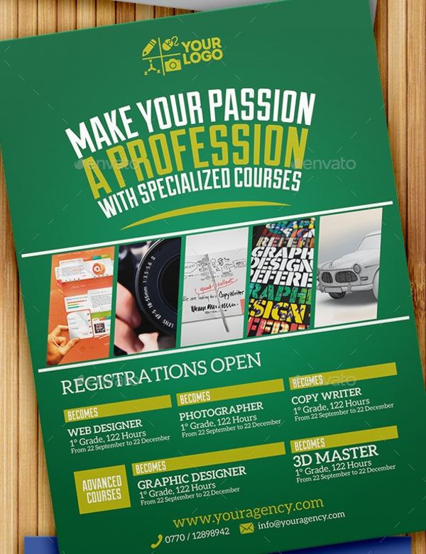 Professional Courses Flyer Template
