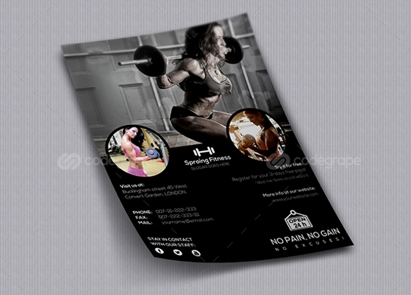 Professional Gym Flyer With Multiple Color