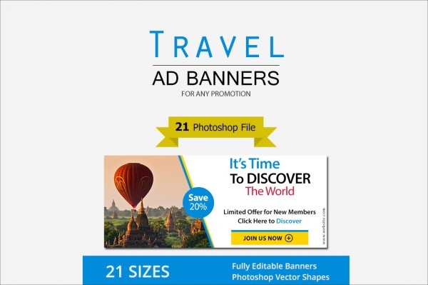 Professional Travel Ad Banner