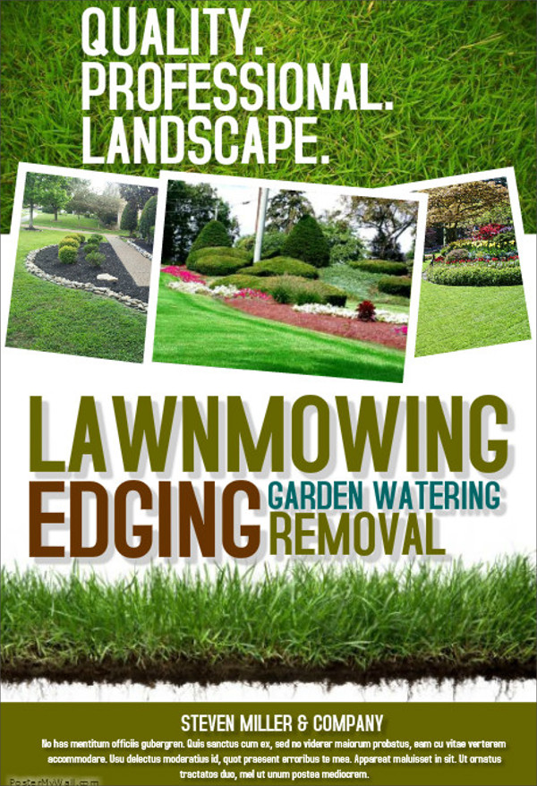 Quality Professional Lawn care Flyers