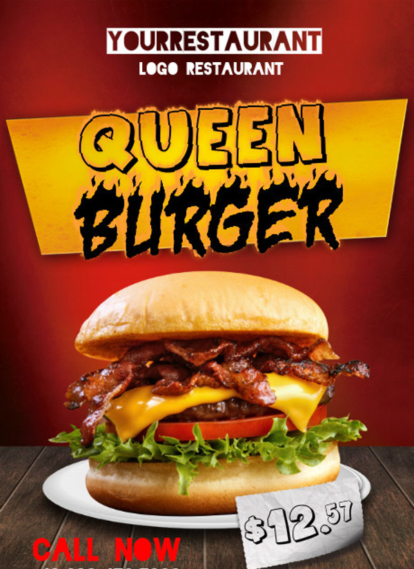 Queen Burger Flyer Design
