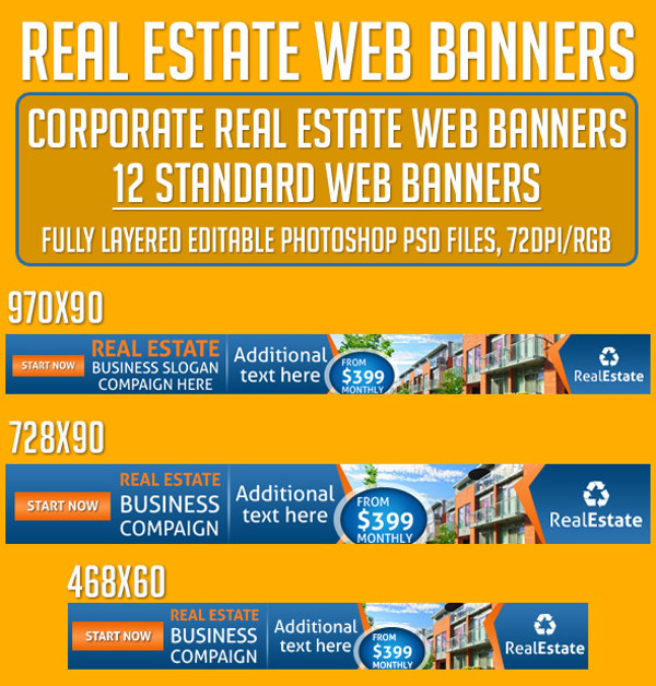 Real Estate Business Web Banners
