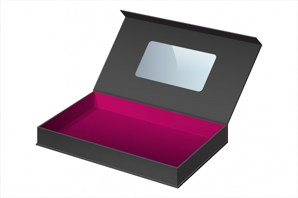 Realistic Black Jewelry Package Box