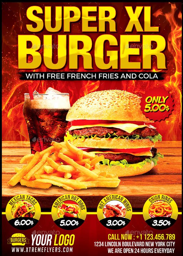 21   yummy burger flyer templates  u0026 creatives