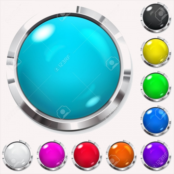 Realistic Colored Glossy Buttons