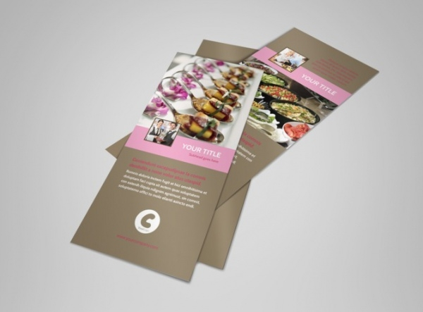 realistic event catering flyer template