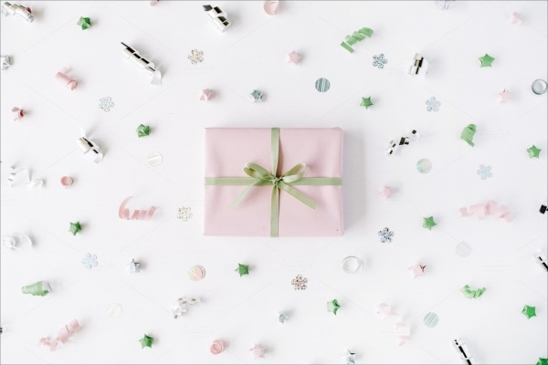 Realistic Gift Box Packaging