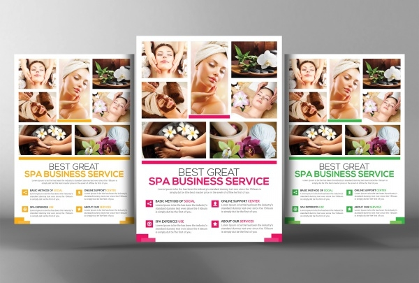 Realistic Massage Flyer Design