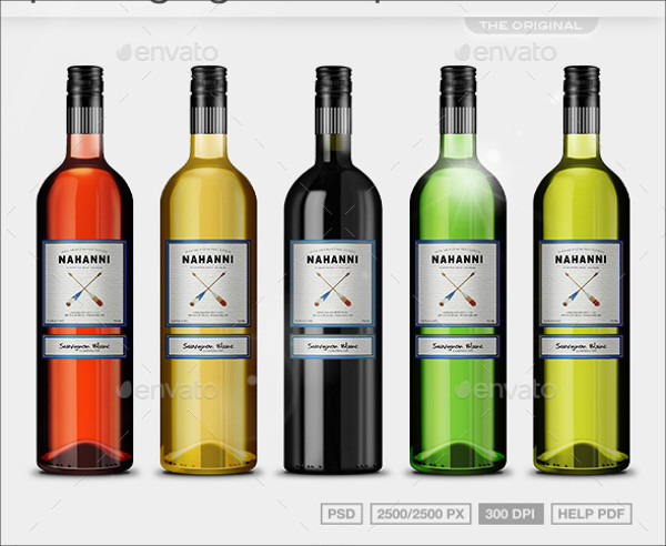 Realistic Wine Packaging