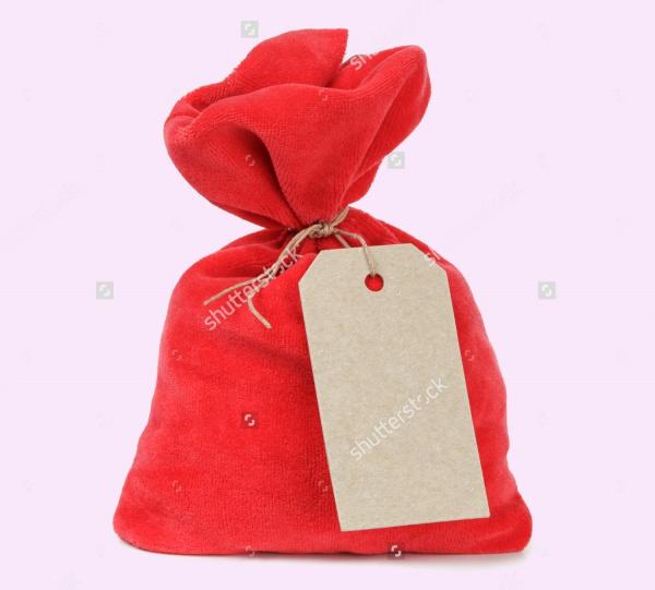 Red Santa Bag Tag